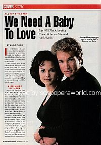 Cover Story featuring Eva LaRue and John Callahan of All My Children