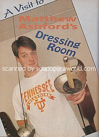 A Visit To Matthew Ashford's Dressing Room (Matthew plays Jack Deveraux on Days Of Our Lives)