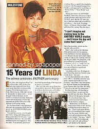 Interview with Linda Dano (Felicia Gallant on Another World)