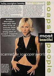 Soaps' Most Beautiful People featuring Kelley Menighan Hensley (Emily on As The World Turns)