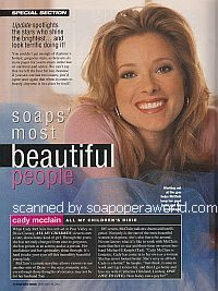 Soaps' Most Beautiful People featuring Cady McClain (Dixie on All My Children)