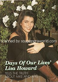 Interview with Lisa Howard (April on Days Of Our Lives)