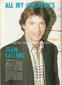 Interview with Jean LeClerc (Jeremy on All My Children)