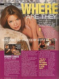 Where Are They Now? with Bobbie Eakes (ex-Macy, The Bold & The Beautiful)