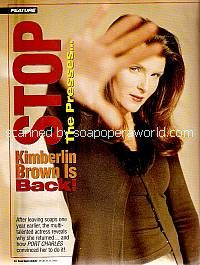 Kimberlin Brown played the role of Dr. Rachel Locke on Port Charles
