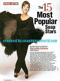 Most Popular Soap Stars (Eva LaRue - Maria, AMC)