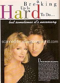 Breaking Up Is Hard To Do featuring Deidre Hall & Drake Hogestyn (Marlena & John on Days Of Our Lives)