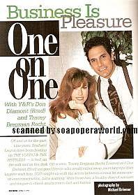 Tracey E. Bregman & Don Diamont (Lauren & Brad, Y&R)