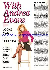 Interview with Andrea Evans (Tina on One Life To Live)