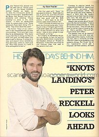 Interview with Peter Reckell (Johnny Rourke on Knots Landing)