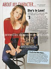 About My Character with Joie Lenz (Michelle on Guiding Light)
