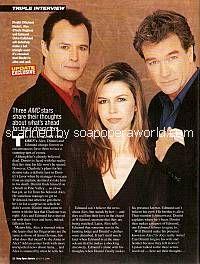 Michael Nader, Finola Hughes & John Callahan of AMC