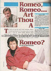 Romeo, Romeo...Are Thou A Romeo?