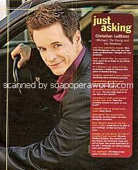 Just Asking with Christian LeBlanc (Michael Baldwin on The Young & The Restless)