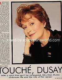 Interview with Marj Dusay (Alexandra Spaulding on Guiding Light)