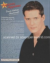 Applause, Applause for David Andrew Macdonald (Edmund on Guiding Light)