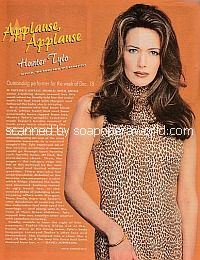 Applause, Applause for Hunter Tylo of The Bold & The Beautifu
