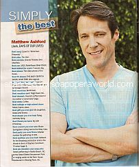 Simply The Best with Matthew Ashford (Jack Deveraux on Days Of Our Lives)