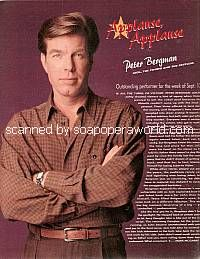 Applause, Applause for Peter Bergman (Jack on Y&R)