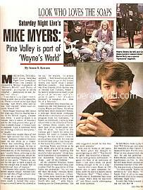 Interview with Mike Myers (Saturday Night Live)