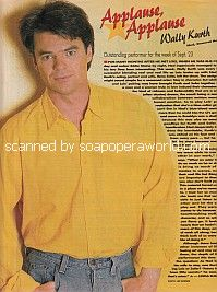 Applause, Applause for Wally Kurth of General Hospital