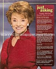 Just Asking with Peggy McCay (Caroline on Days Of Our Lives)