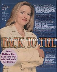 Interview with Robin Mattson (Heather Webber on General Hospital)