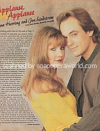 Applause, Applause for Lynn Herring & Jon Lindstrom (Lucy & Kevin on General Hospital)