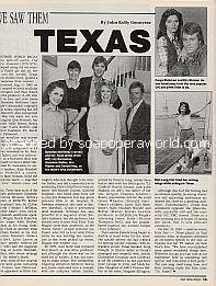 As We Saw Them - the soap opera, Texas