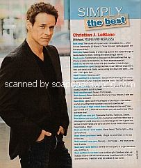 Simply The Best with Christian LeBlanc (Michael Baldwin on Y&R)
