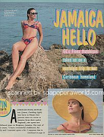 In Jamaica with Fiona Hutchison (Jenna on Guiding Light)