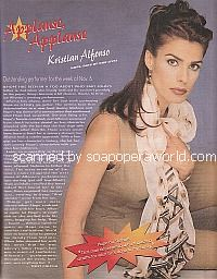 Applause, Applause for Kristian Alfonso of Days Of Our Lives