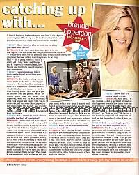 Catching Up with Brenda Epperson (ex-Ashley on The Young and The Restless)