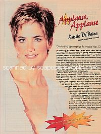 Applause, Applause for Kassie DePaiva of One Life To Live