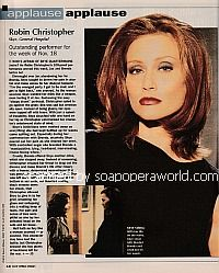 Applause, Applause for Robin Christopher (Skye on General Hospital)