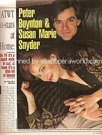 Interview with Peter Boynton & Susan Marie Snyder (Tonio and Julie on As The World Turns)