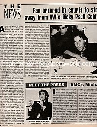 Fan Ordered By Courts To Stay Away From Ricky Paull Goldin (Dean Frame on Another World)