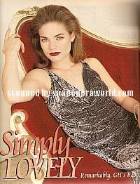 Rebecca Herbst of General Hospital