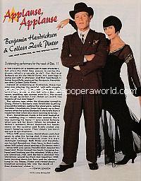 Applause, Applause for Benjamin Hendrickson & Colleen Zenk Pinter of As The World Turns