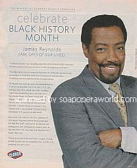 Celebrate Black History Month with James Reynolds (Abe on Days Of Our Lives)