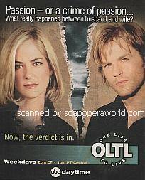 OLTL Advertisement featuring Kassie DePaiva & Trevor St. John (Blair & Todd, OLTL)