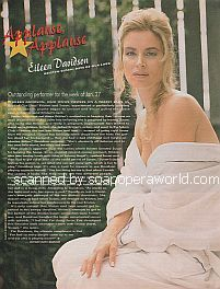Applause, Applause for Eileen Davidson (Kristen/Susan on Days Of Our Lives)