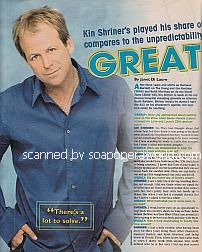 Interview with Kin Shriner (Scott Baldwin on General Hospital)