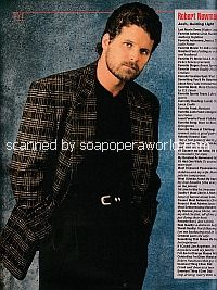FYI with Robert Newman of Guiding Light - Soap Opera Weekly 1995