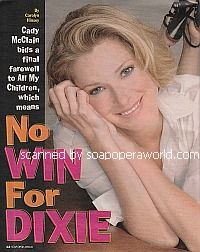 Interview with Cady McClain (Dixie on All My Children)