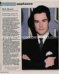 Applause, Applause for Rick Hearst (Whip on The Bold and The Beautiful)