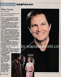 Applause, Applause for Peter Simon (Ed Bauer on Guiding Light)