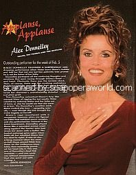 Applause, Applause for Alex Donnelley of The Young & The Restless