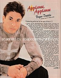 Applause, Applause for Bryan Dattilo of Days Of Our Lives