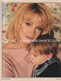 Deidre Hall of Days Of Our Lives with son, David